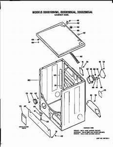 Cabinet Diagram  U0026 Parts List For Model Dde9200gal Ge