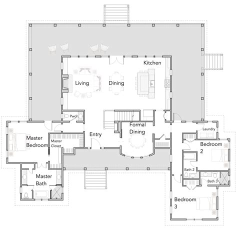 open kitchen floor plans designs large open floor plans with wrap around porches rest 7190