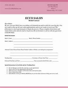 Bridal Hair And Makeup Contract Template Makeup Vidalondon