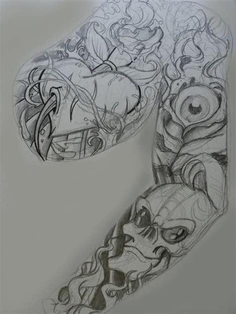 creator  hawaiian warrior sleeve tattoos