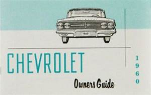 Chevy Owners Manual  1960  Chevrolet New 60 Gm Guide