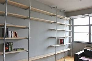 lucas industrial pine and galvanised steel shelving by ...