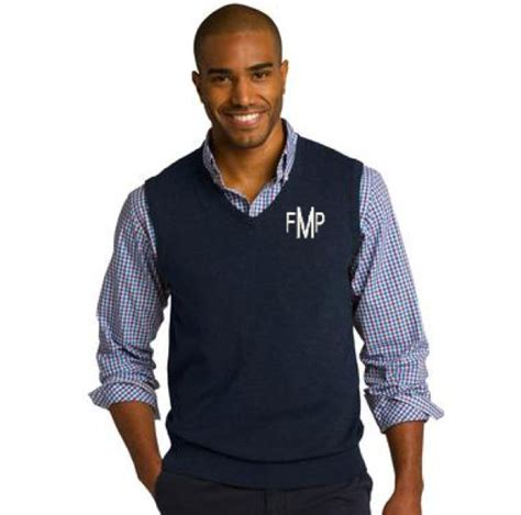 personalized mens sweater vest