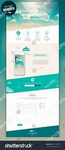 One Page Website Design Stock Vector 213185257 Shutterstock