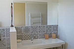 Faience Carreaux De Ciment : r alisation salles de bain et chambres tendances ~ Premium-room.com Idées de Décoration