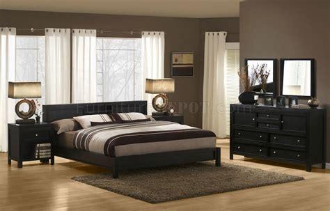 dark espresso finish modern bedroom set  platform bed