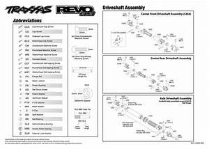 Revo 3 3  53097  Driveshafts Assembly