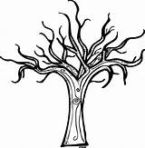 Coloring Tree Bare Pages Popular sketch template