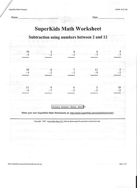 superkids math worksheets addition and subtraction