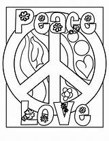 Coloring Peace Pages Easy Adults sketch template