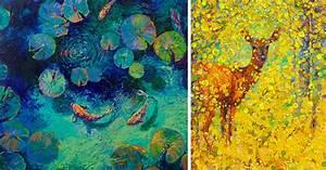 Vibrant oil finger paintings by iris scott colossal for Vibrant oil finger paintings by iris scott