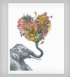 The Happy Elephant Colorful Art Print | Beautiful, Happy ...
