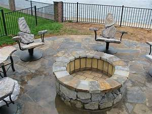 Hand Made Fire Pit Chairs by Stone 2 Furniture