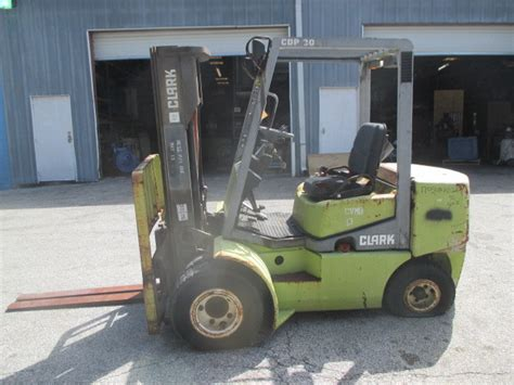 clark cdp dual wheel lbs diesel forklift side shift