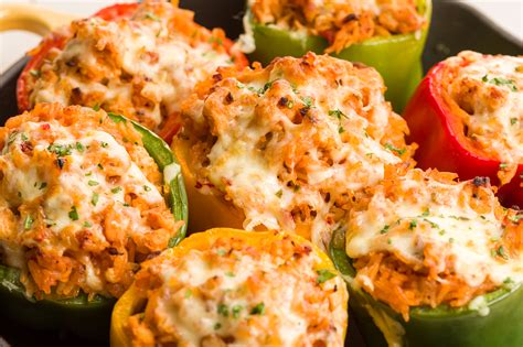easy cuisine best ground turkey stuffed peppers recipe how to