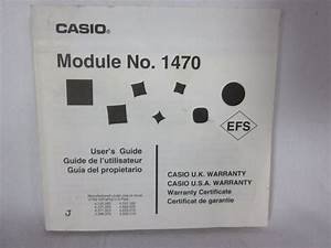 Casio Module 1470 Original Instruction Watch Manual  Casio