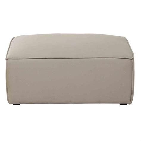 canapé pouf modulable pouf de canapé modulable en coton beige colombus maisons