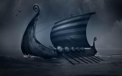 Viking Ship Vikings Ships Wallpapers Longship Drawing