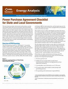 power purchase agreement checklist for state and local With solar power purchase agreement template