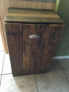 Best 25+ Wooden trash can holder ideas on Pinterest Wood