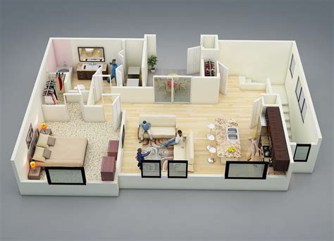 25 One Bedroom Houseapartment Plans by 25 One Bedroom House Apartment Plans One Bedroom House