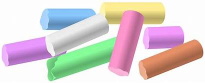 Chalk Clipart Clip Pieces Drawing Cliparts Chalked