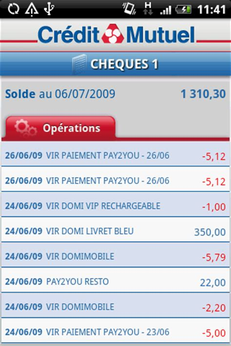 credit mutuel massif central application bancaire iphone android banques en ligne