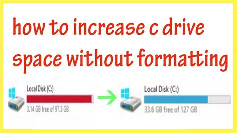 expand the size of c drive without losing data windows 7 8 1 10