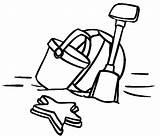 Coloring Shcool Shovel Bucket Holiday Tocolor Grade Groot sketch template