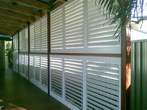 aluminum shutters for patio stylish privacy with aluminum shutters traditional