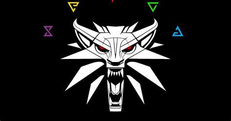 witcher wolf school medallion  signs