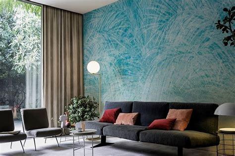 teal wallpaper  living room gallery