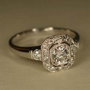 reserved art deco inspired wedding ring platinum and 14k With deco wedding ring