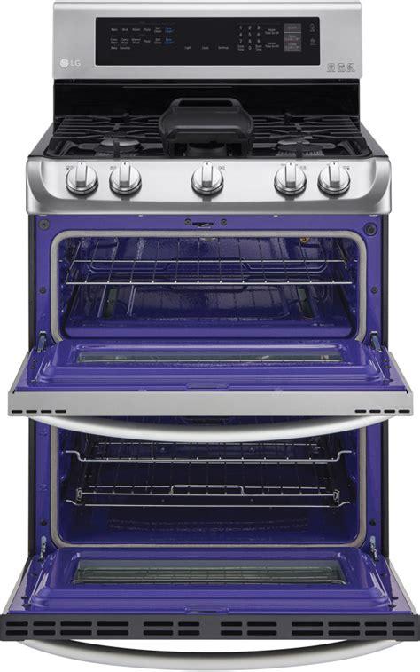 lg ldgst   freestanding double oven gas range   sealed burners  probake