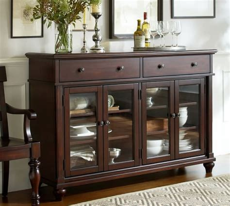 pottery barn bar lawton glass door buffet pottery barn