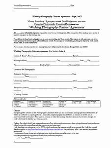 5 free wedding photography contract templates With free wedding contract forms