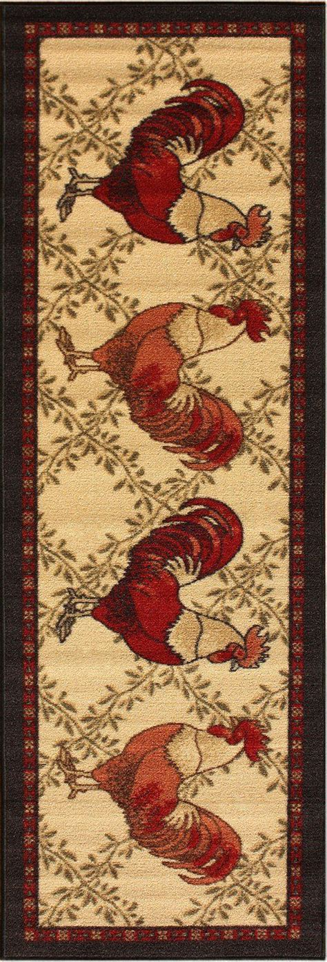 washable rooster rugs 1000 images about rooster kitchen rugs on pinterest