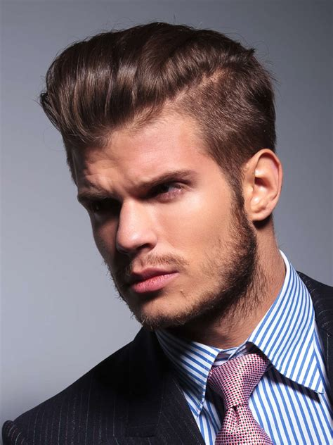 slicked  hairstyles  classy style  simple