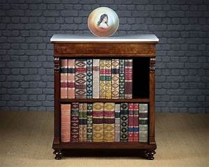 small, marble, top, bookcase, c, 1860
