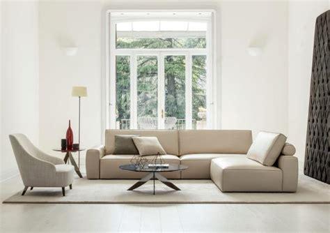 berto divani divano con penisola in pelle johnny berto salotti