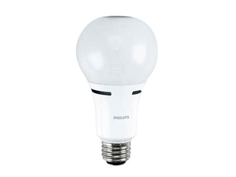 philips non dimmable 5w 8w 18w 3 way 2700k a21 led bulb