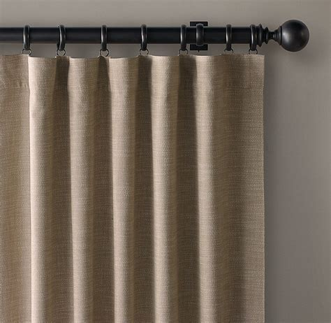 custom perennials 174 textured linen rod pocket drapery