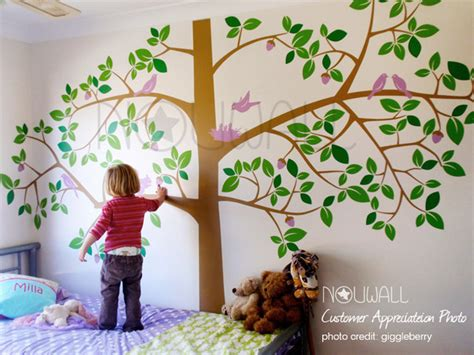pottery barn baby wall decor room decor tree wall decal tropical decor