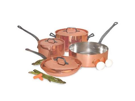 copper cookware set  pc artisan crafted home