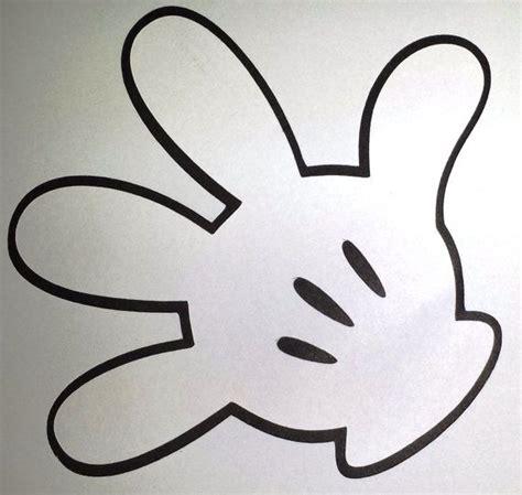mickey  minnie mouse invitations glove ears head
