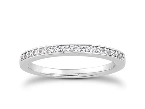 pave diamond wedding ring band in 14k white gold richard cannon jewelry