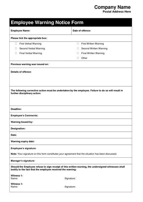 employee written warning template free employee warning letter template letters free sle letters
