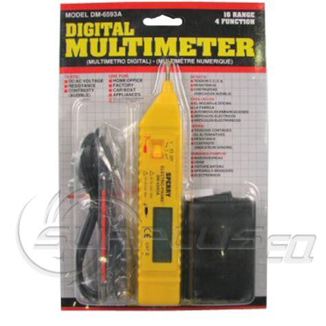 ideal sperry light meter a w sperry dm 6593a 4 function digital meter multimeter new
