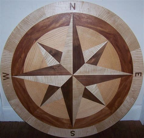 Hardwood Floor Medallion Inlays And Compass Roses Making