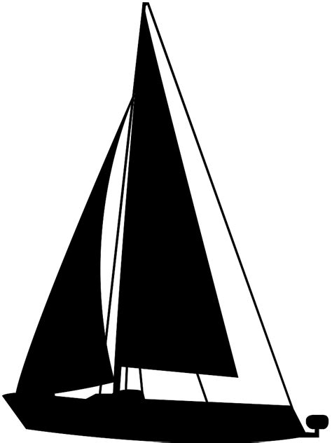 Sailboat Outline Vector Free by Sailboat Silhouette Free Vector Silhouettes